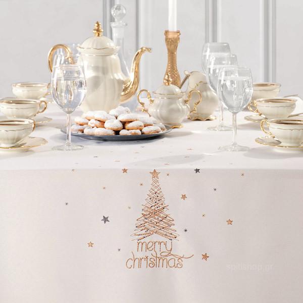 Χριστουγεννιάτικο Τραπεζομάντηλο (160x260) Makis Tselios Glad