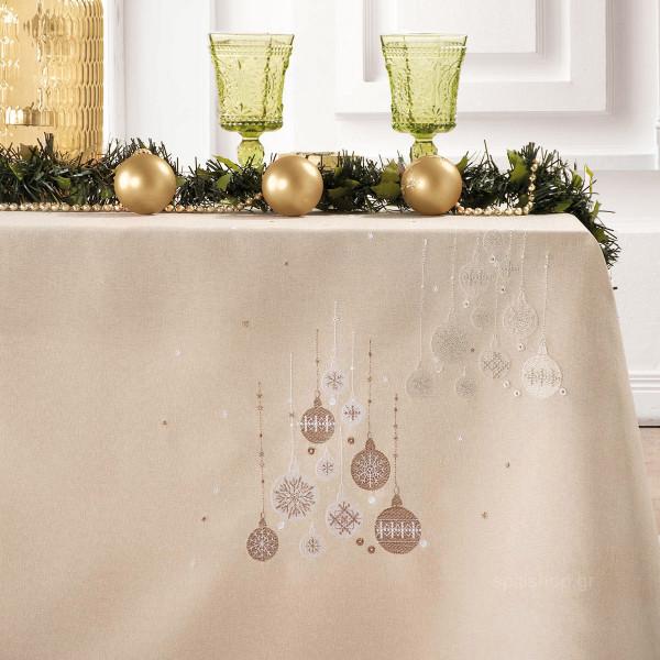 Χριστουγεννιάτικο Τραπεζομάντηλο (140x180) Makis Tselios Spirito