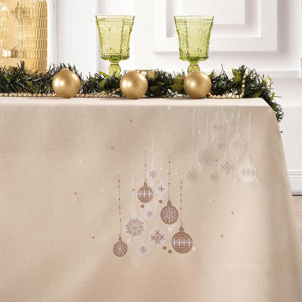 Χριστουγεννιάτικο Τραπεζομάντηλο (140×180) Makis Tselios Spirito