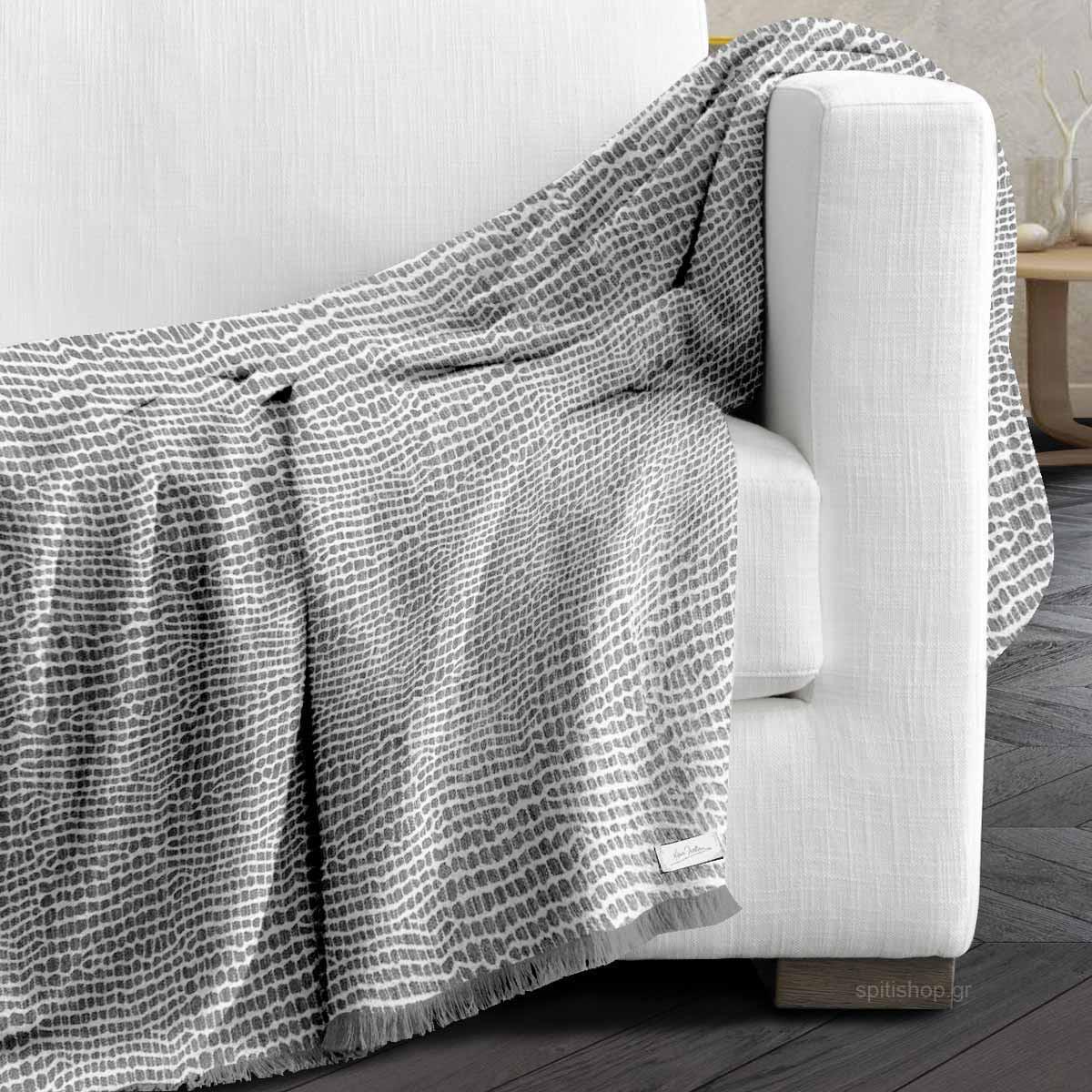 Ριχτάρι Τριθέσιου (180×300) Makis Tselios Stone Grey