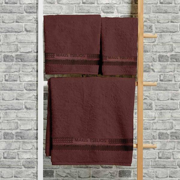 Πετσέτες Μπάνιου (Σετ 3τμχ) Makis Tselios Desert Brown