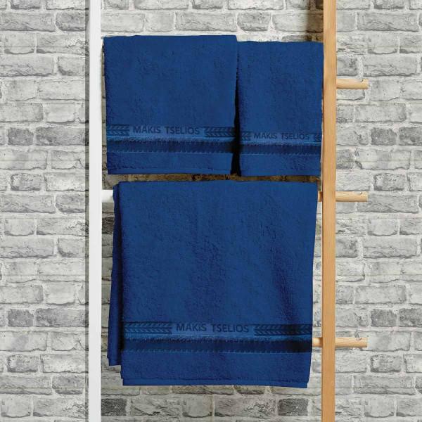 Πετσέτες Μπάνιου (Σετ 3τμχ) Makis Tselios Desert Blue