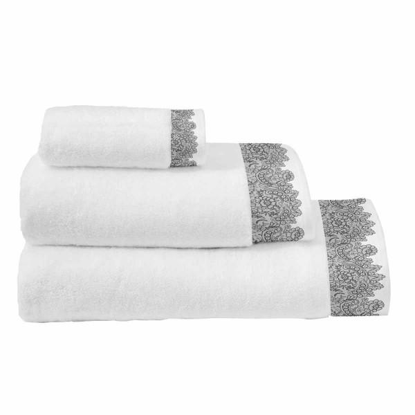 Πετσέτες Μπάνιου (Σετ 3τμχ) Makis Tselios Romantic White
