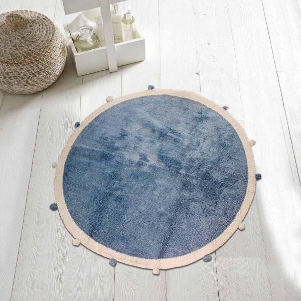 Στρογγυλό Χαλί (Φ120) Makis Tselios Pom Pon Blue