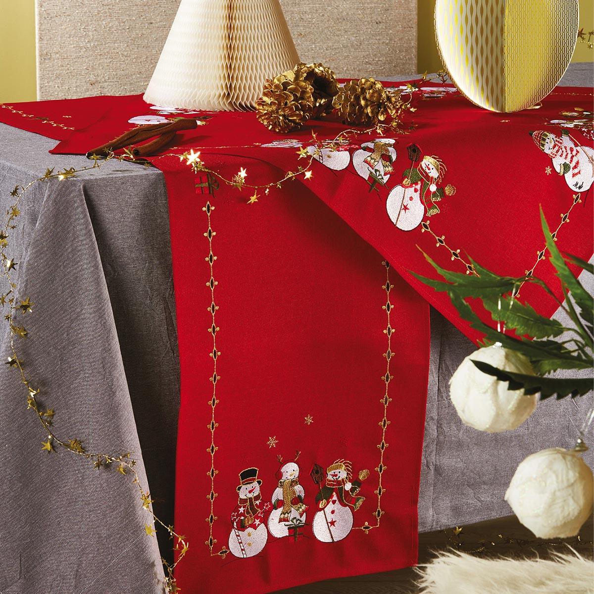 Χριστουγεννιάτικη Τραβέρσα White Egg 17852-R
