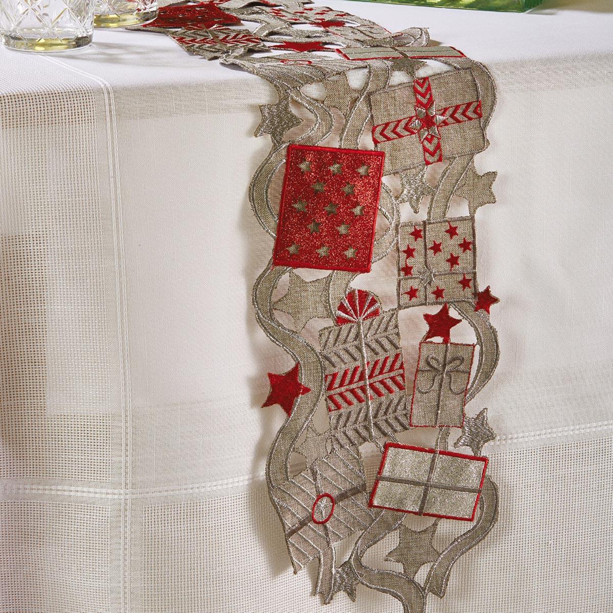 Χριστουγεννιάτικη Τραβέρσα White Egg 18736 A-GR