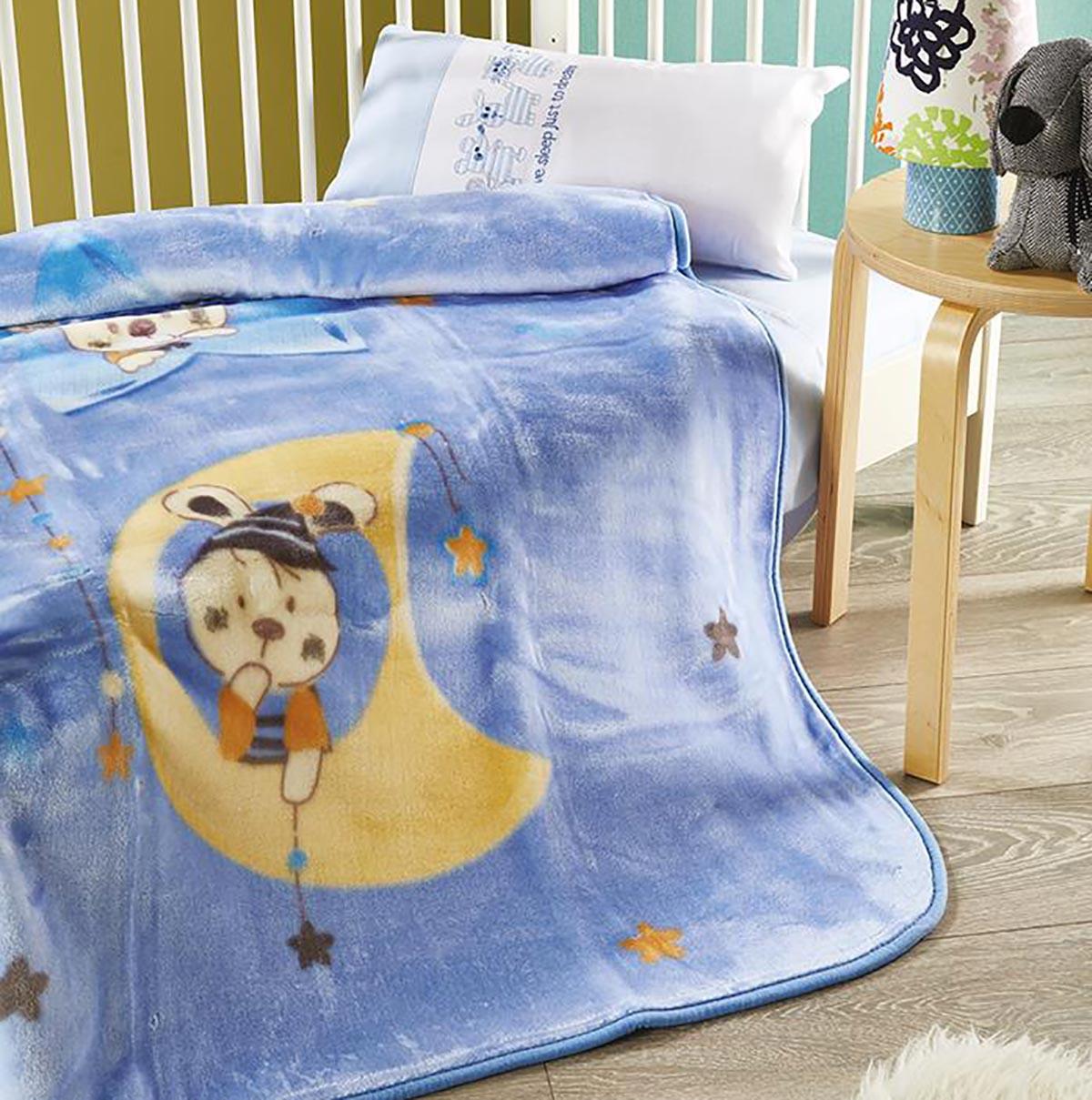 Κουβέρτα Βελουτέ Κούνιας White Egg KB51/1