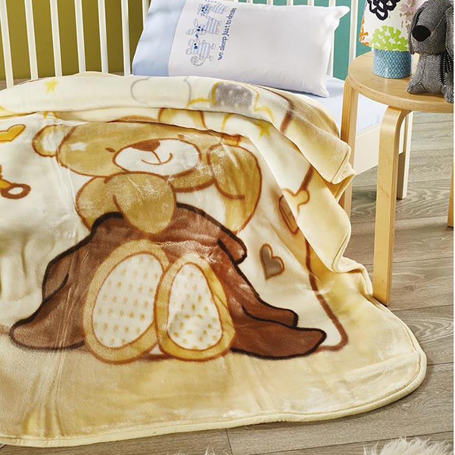 Κουβέρτα Βελουτέ Κούνιας White Egg KB52/1