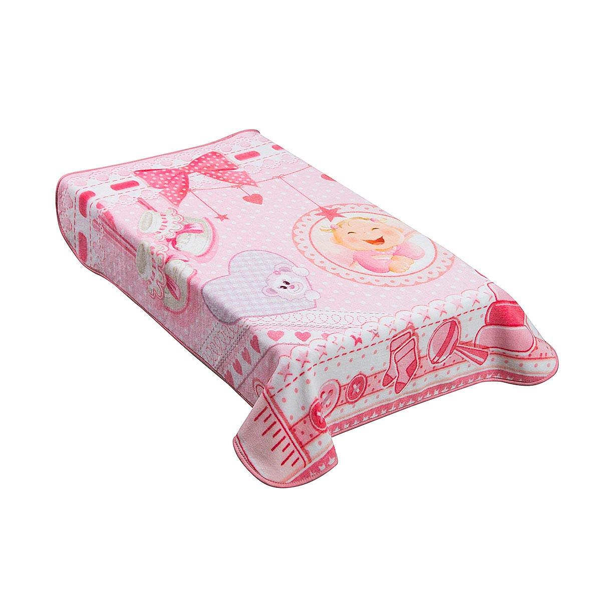 Κουβέρτα Βελουτέ Κούνιας AdamHome Dorm Pink