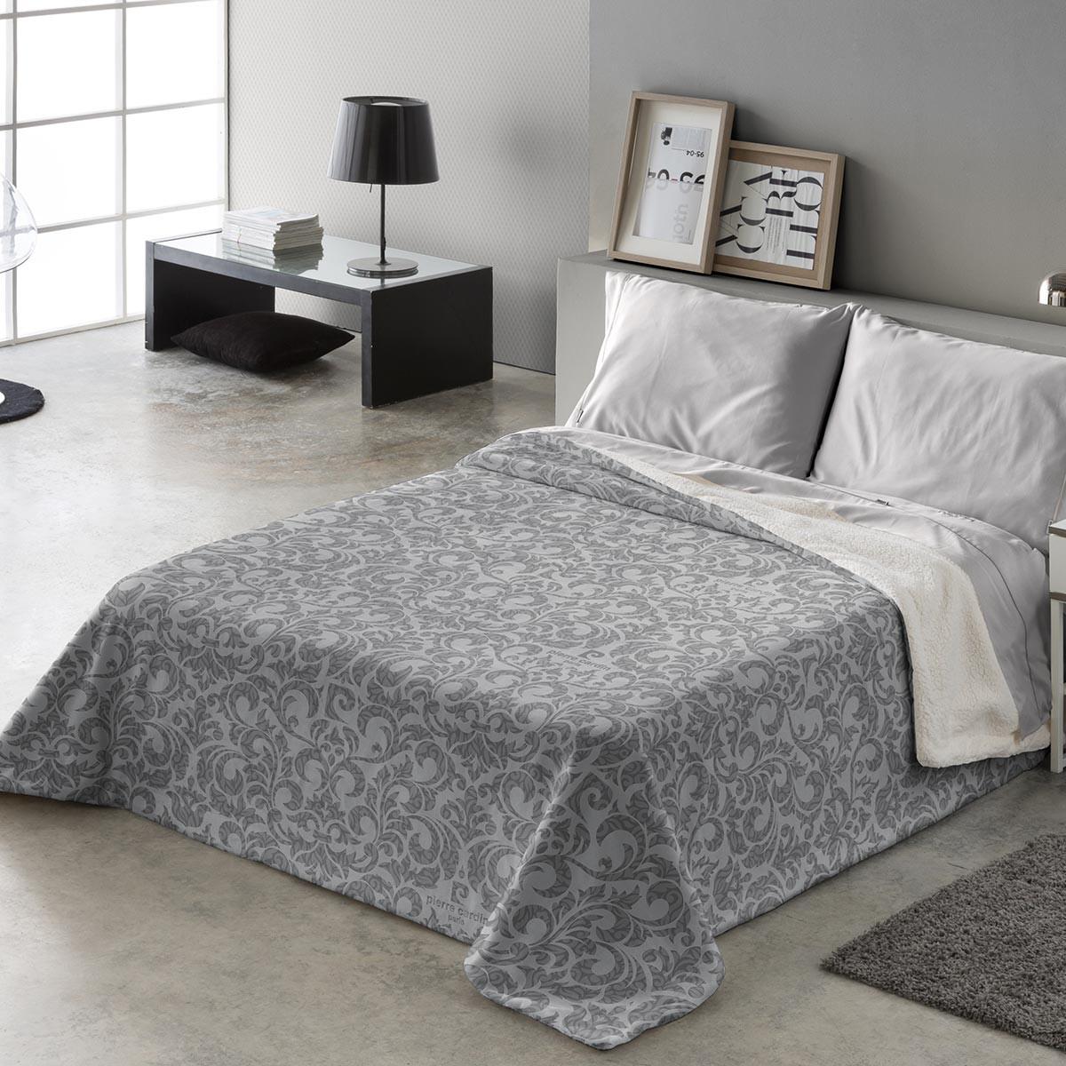Κουβέρτα Υπέρδιπλη Fleece Με Γουνάκι Pierre Cardin Aspen 294 Grey