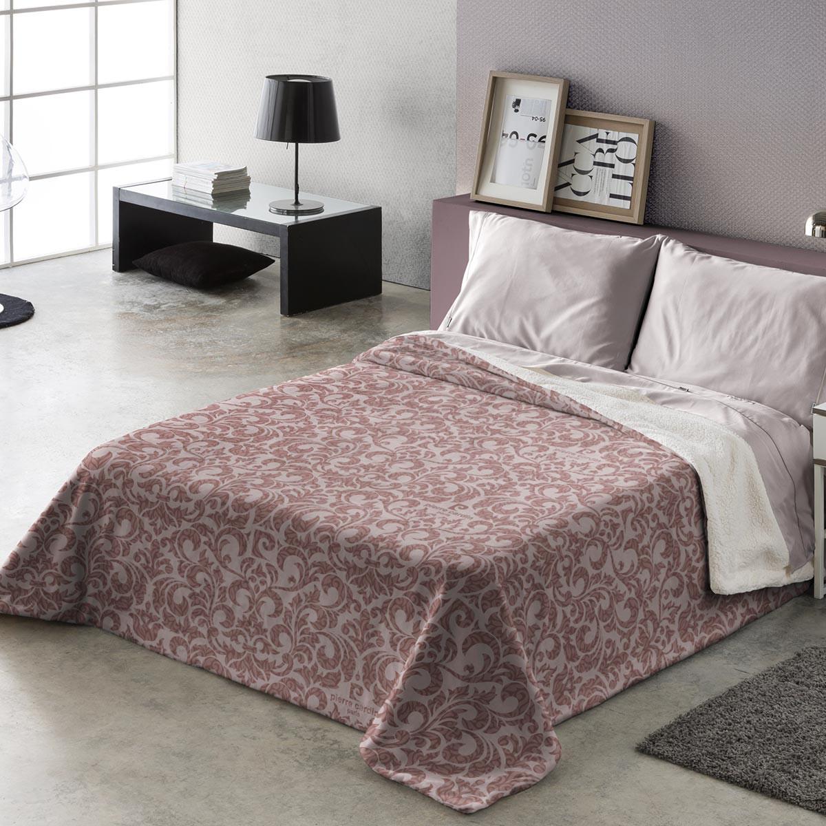 Κουβέρτα Υπέρδιπλη Fleece Με Γουνάκι Pierre Cardin Aspen 294 Rose