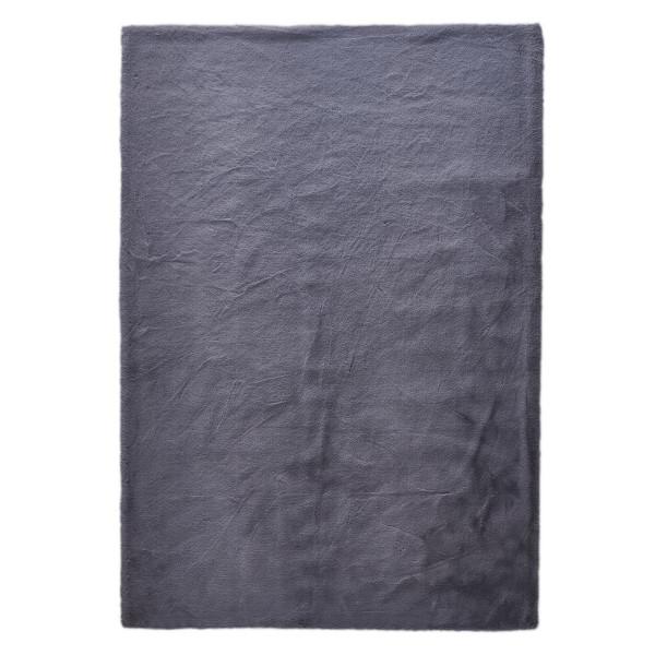 Γούνινο Χαλί Διαδρόμου (80x150) New Plan Rabbit Skin R04 Dark Grey