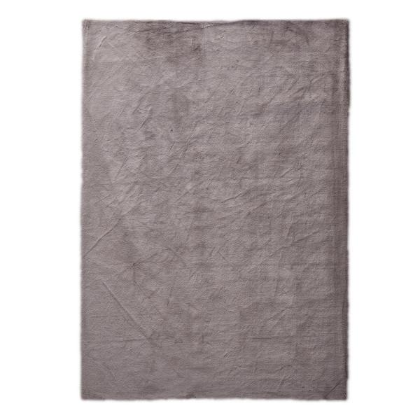 Γούνινο Χαλί Διαδρόμου (80x150) New Plan Rabbit Skin R11 Brown Grey