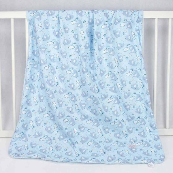 Κουβερτοπάπλωμα Κούνιας Ninna Nanna Blue Elephant