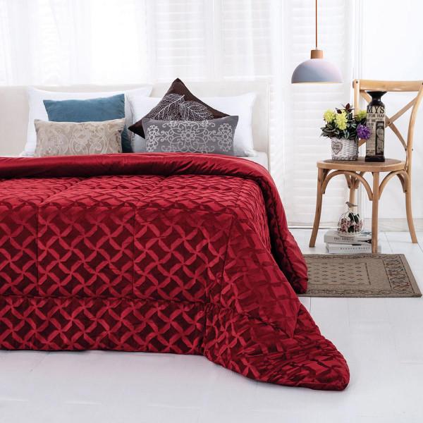 Κουβερτοπάπλωμα Υπέρδιπλο Sb Home Aspen Red