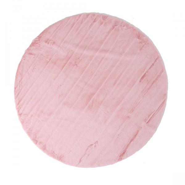 Γούνινο Στρογγυλό Χαλί (Φ120) Royal Carpets Kuki Pink