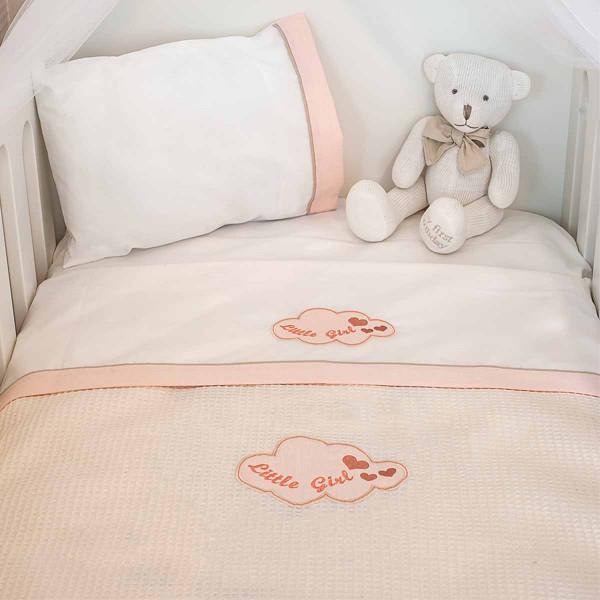 Κουβέρτα Πικέ Αγκαλιάς Baby Oliver Little Girl 144