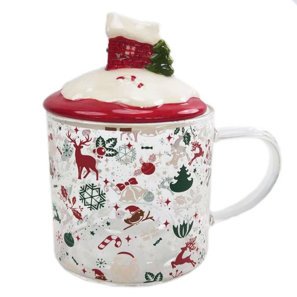 Χριστουγεννιάτικη Κούπα Με Καπάκι Marva 652217