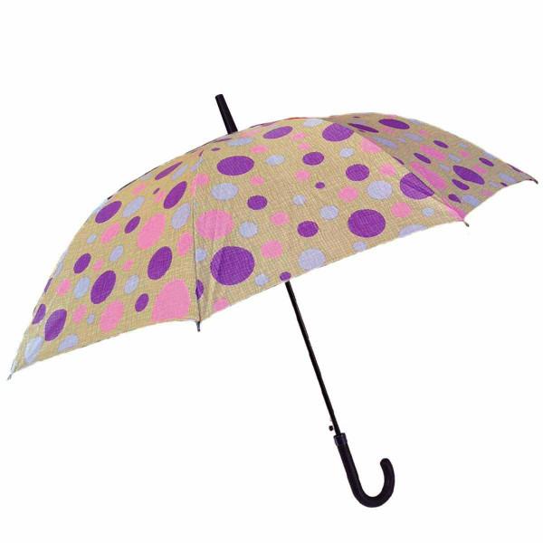 Ομπρέλα Βροχής Μπαστούνι Αυτόματη Benzi PA063 Beige