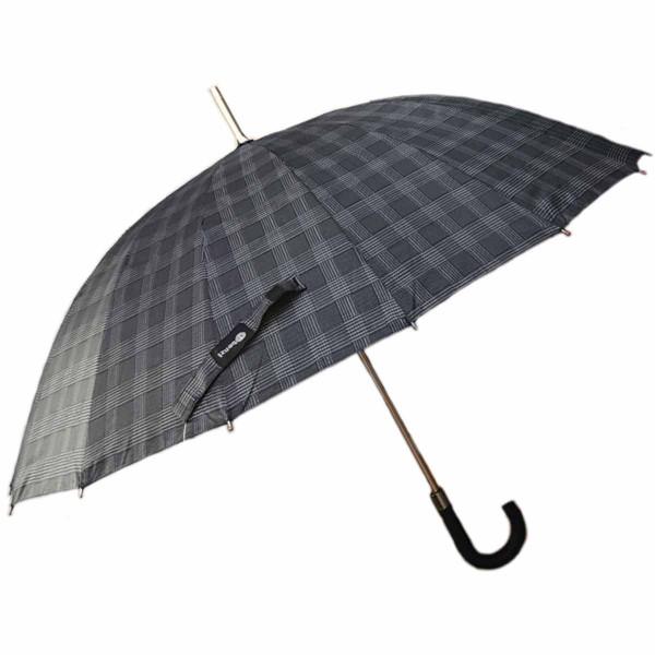 Ομπρέλα Βροχής Μπαστούνι Χειροκίνητη Benzi PA073 Καρό