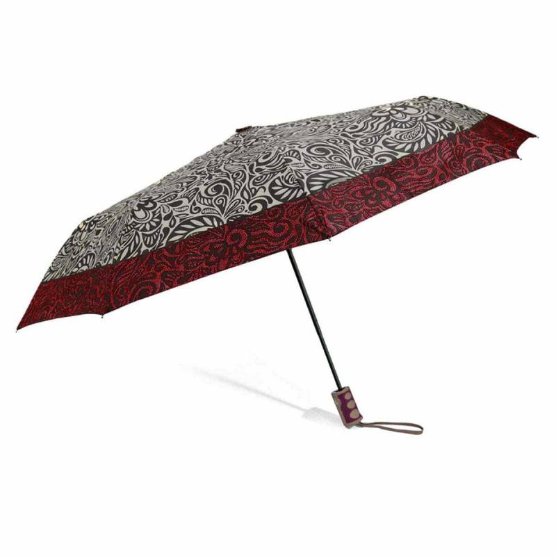 Ομπρέλα Βροχής Σπαστή Αυτόματη Benzi PA092 Beige