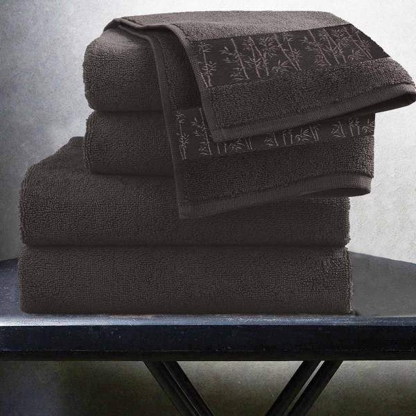 Πετσέτες Μπάνιου (Σετ 3τμχ) Makis Tselios Bamboo Marone