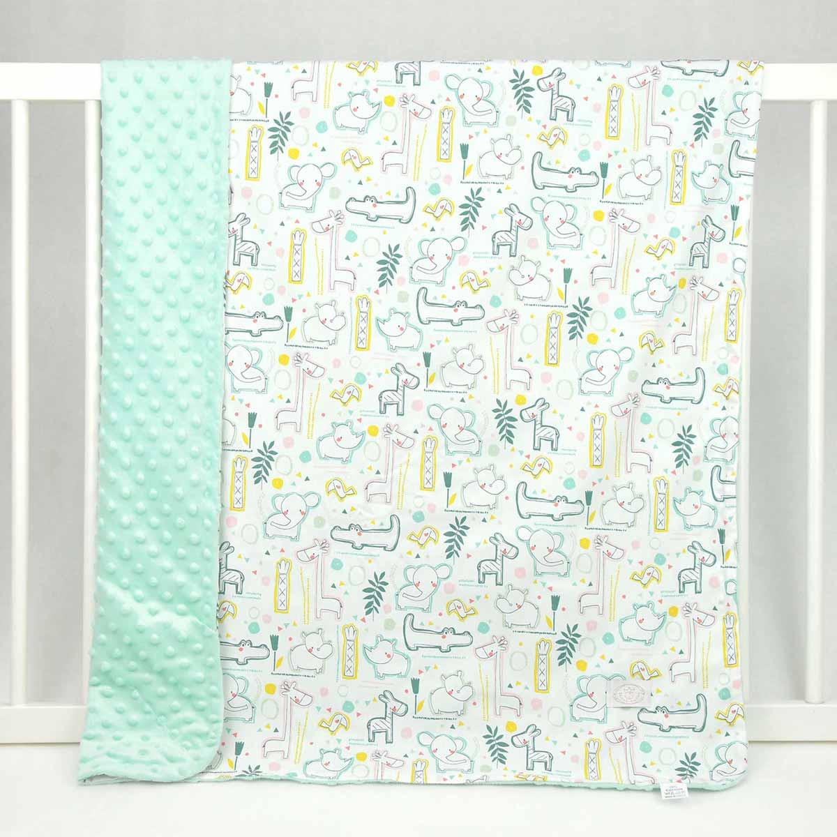 Κουβέρτα Minky Κούνιας Ninna Nanna Baby Zoo