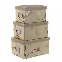 Κουτιά Αποθήκευσης (Σετ 3τμχ) InArt 3-70-926-0001
