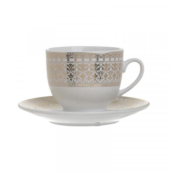 Φλυτζάνια Καφέ + Πιατάκια (Σετ 6τμχ) InArt 3-60-707-0011