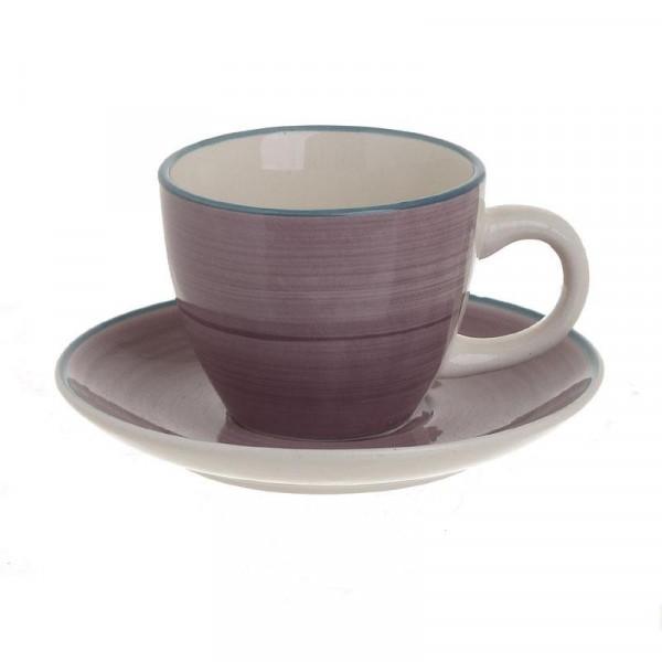 Φλυτζάνια Καφέ + Πιατάκια (Σετ 6τμχ) InArt 3-60-766-0006