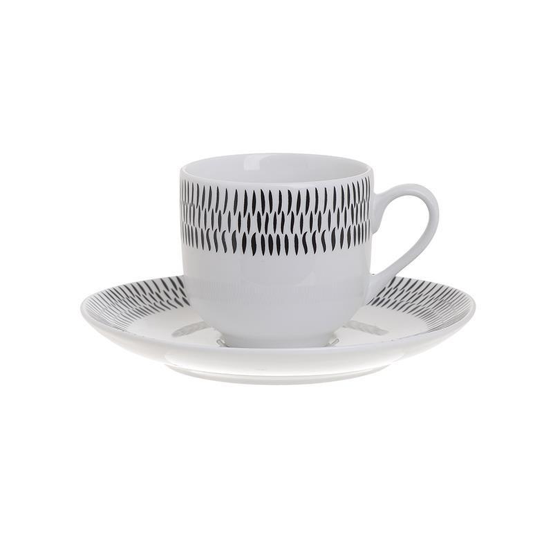 Φλυτζάνια Καφέ + Πιατάκια (Σετ 6τμχ) InArt 3-60-142-0023