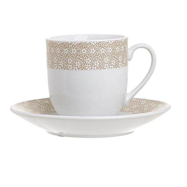 Φλυτζάνια Καφέ + Πιατάκια (Σετ 6τμχ) InArt 3-60-356-0008