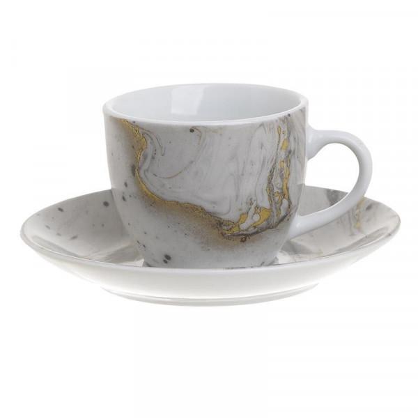 Φλυτζάνια Καφέ + Πιατάκια (Σετ 6τμχ) InArt 3-60-432-0007