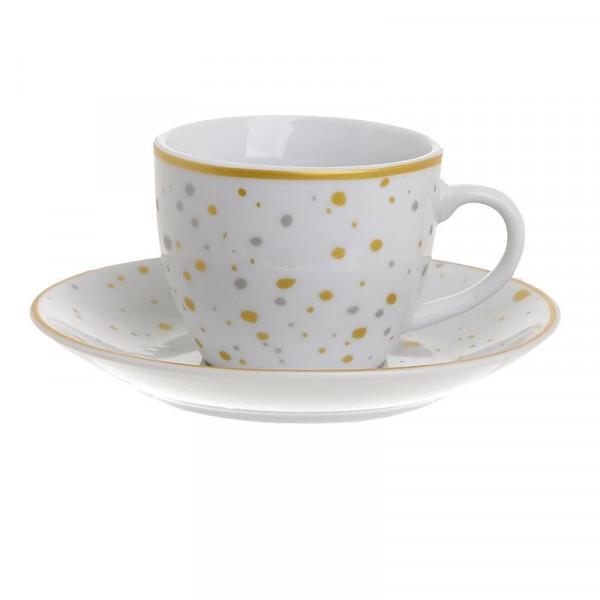 Φλυτζάνια Καφέ + Πιατάκια (Σετ 6τμχ) InArt 3-60-432-0010