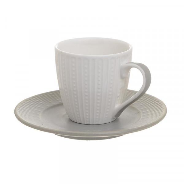 Φλυτζάνια Καφέ + Πιατάκια (Σετ 6τμχ) InArt 3-60-510-0014