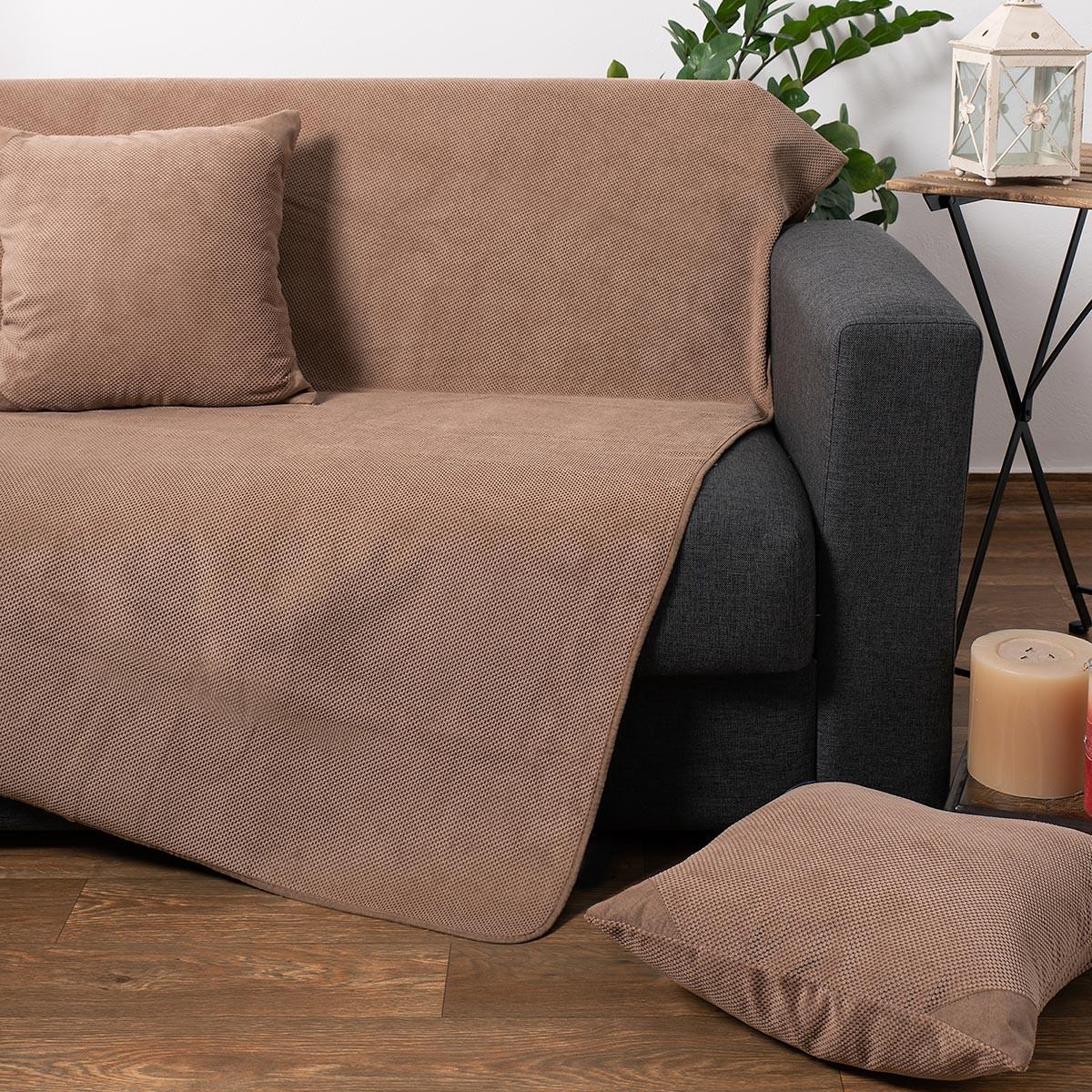 Ριχτάρι Τετραθέσιου (180×350) Silk Fashion 1715 Beige