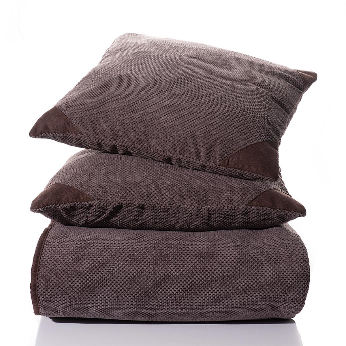 Ριχτάρι Πολυθρόνας (180×180) Silk Fashion 1715 Choco