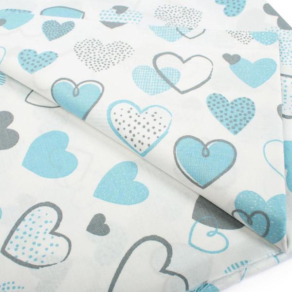 Πάπλωμα Μονό Dimcol Hearts 08 Blue