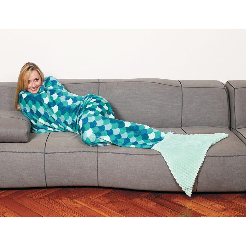 Κουβέρτα Γοργόνα Fleece Kanguru Sirena Turquoise KGR1171