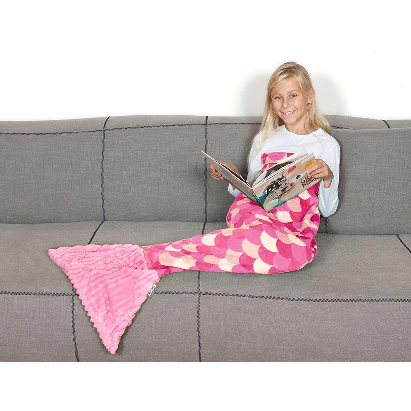 Κουβέρτα Γοργόνα Fleece Kanguru Sirena Lilac KGR1170