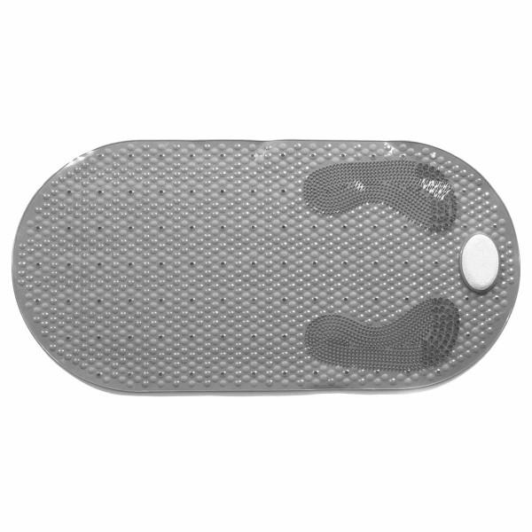 Αντιολισθητικό Πατάκι Μπανιέρας Με Ελαφρόπετρα Estia Grey 02-5405