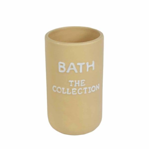 Ποτήρι Οδοντόβουρτσας Estia The Collection Beige 02-6341