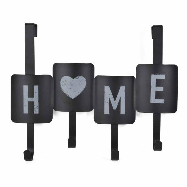 Κρεμάστρα Πόρτας 4 Θέσεων Estia Home Black 02-6440