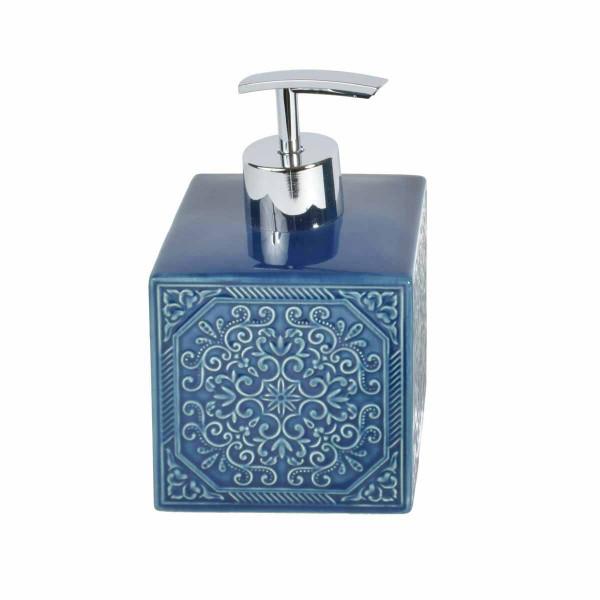 Δοχείο Κρεμοσάπουνου Estia Square Blue 02-6532