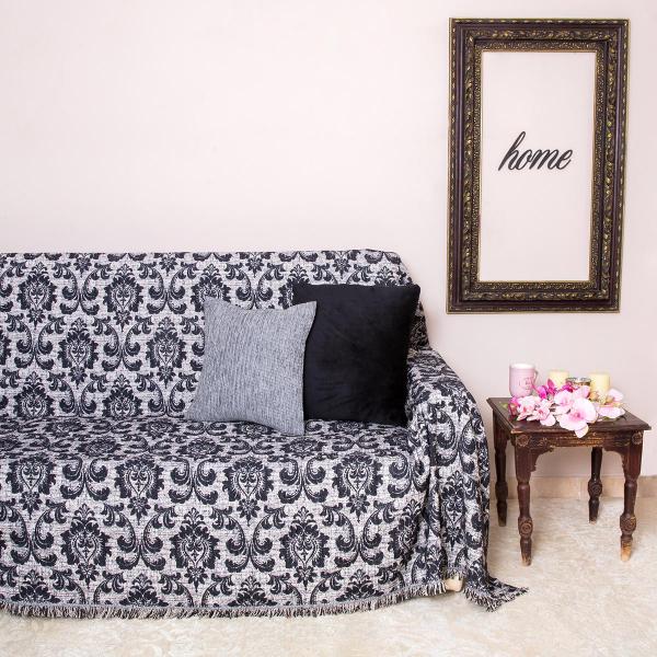 Διακοσμητικό Ριχτάρι (140x180) Loom To Room Barroco Black