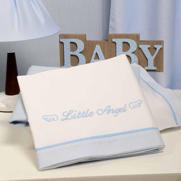 Σεντόνια Κούνιας (Σετ) Baby Oliver Little Angel Blue 321