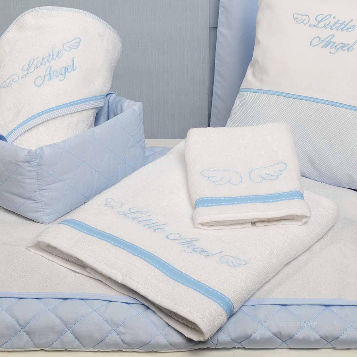 Βρεφικές Πετσέτες (Σετ 2τμχ) Baby Oliver Little Angel Blue 321