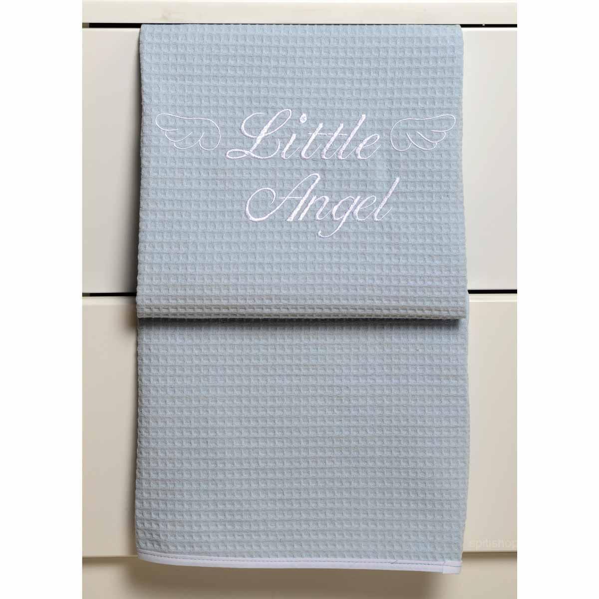 Κουβέρτα Πικέ Κούνιας Baby Oliver Little Angel Blue 321
