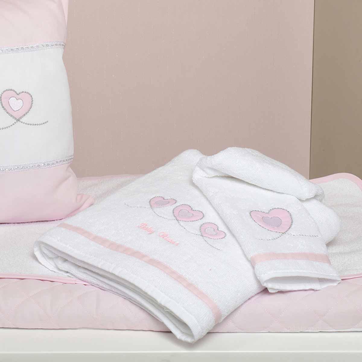 Βρεφικές Πετσέτες (Σετ 2τμχ) Baby Oliver Sweet Hearts 332