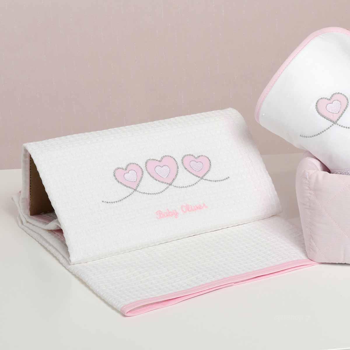 Κουβέρτα Πικέ Αγκαλιάς Baby Oliver Sweet Hearts 332